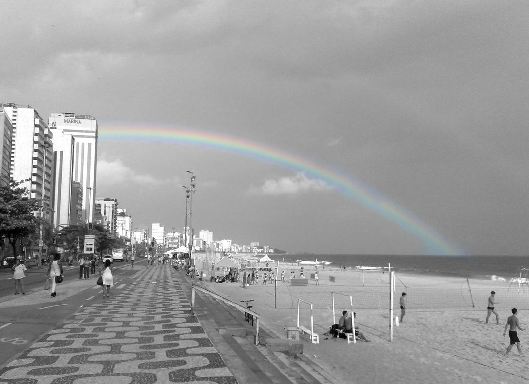 A Rainbow Grows in Ipanema by TheDrifterWithin