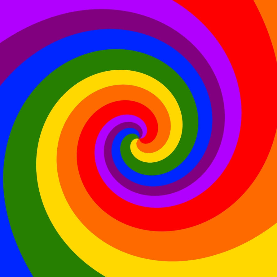 spiral rainbow - photo #1
