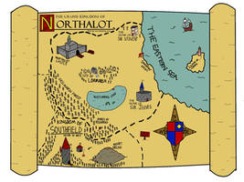 SIR STEVEN: Map of Northalot by Ayliffemakit