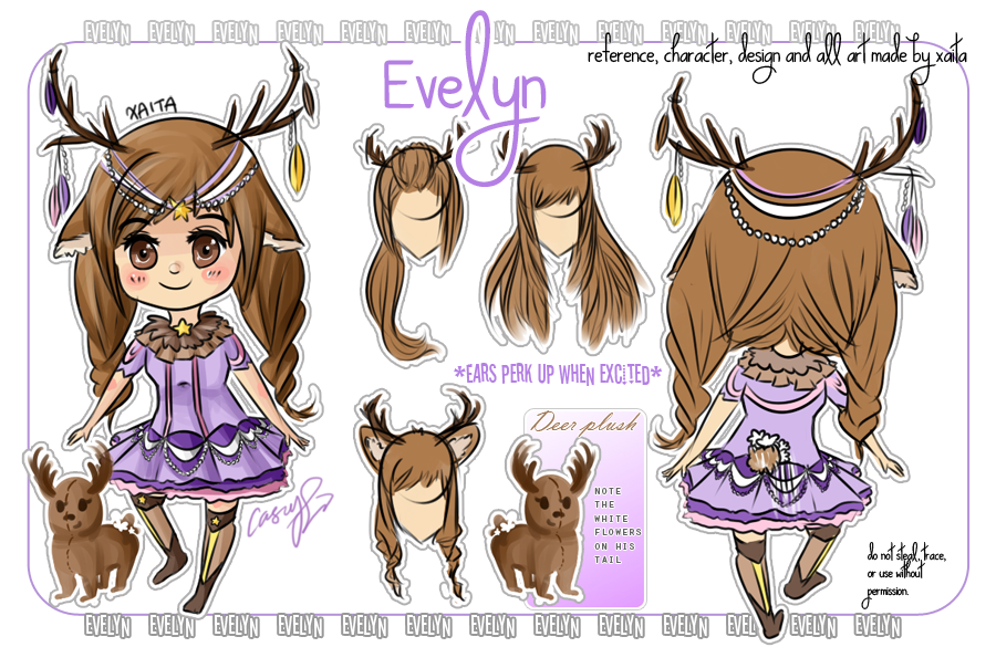 Evelyn - my little deer OC by Xaita
