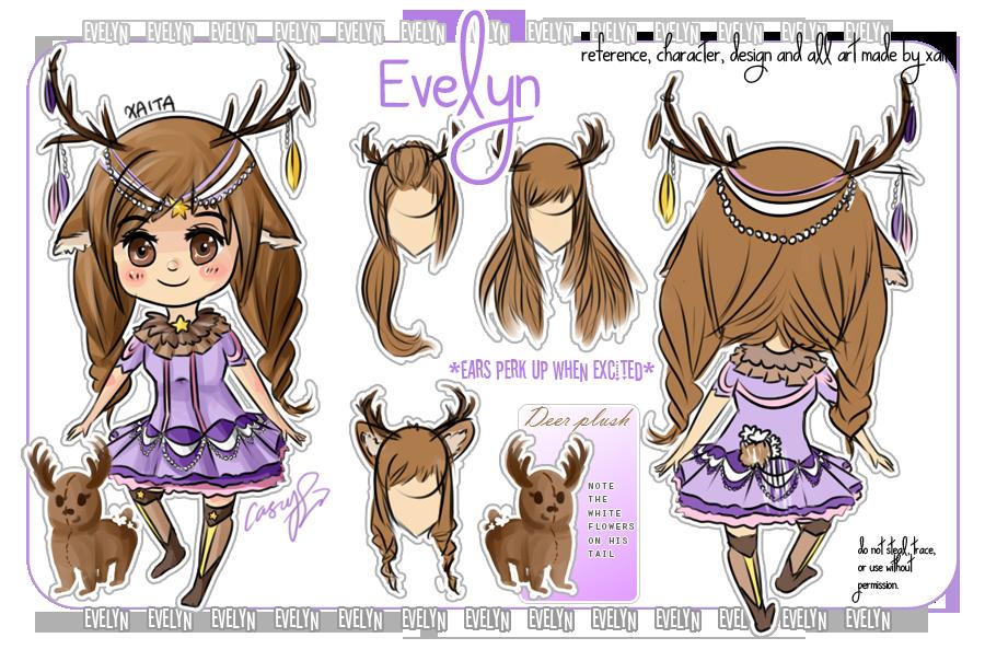 Evelyn - my little deer OC by Xaita