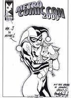 MCC Harley Quinn Sketch by wrathofkhan