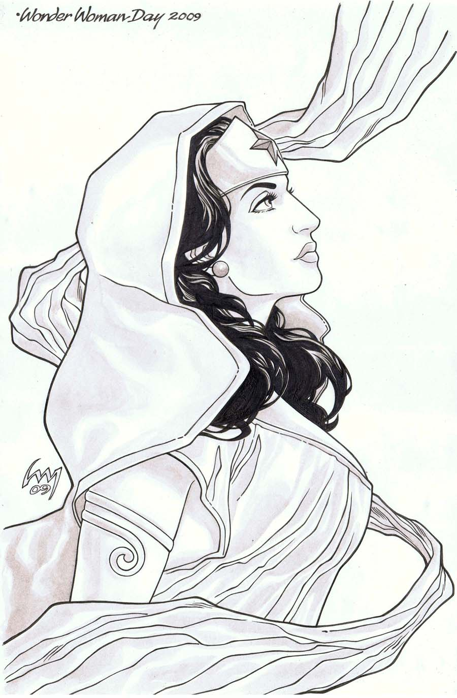 Angel From Themyscira inked by wrathofkhan
