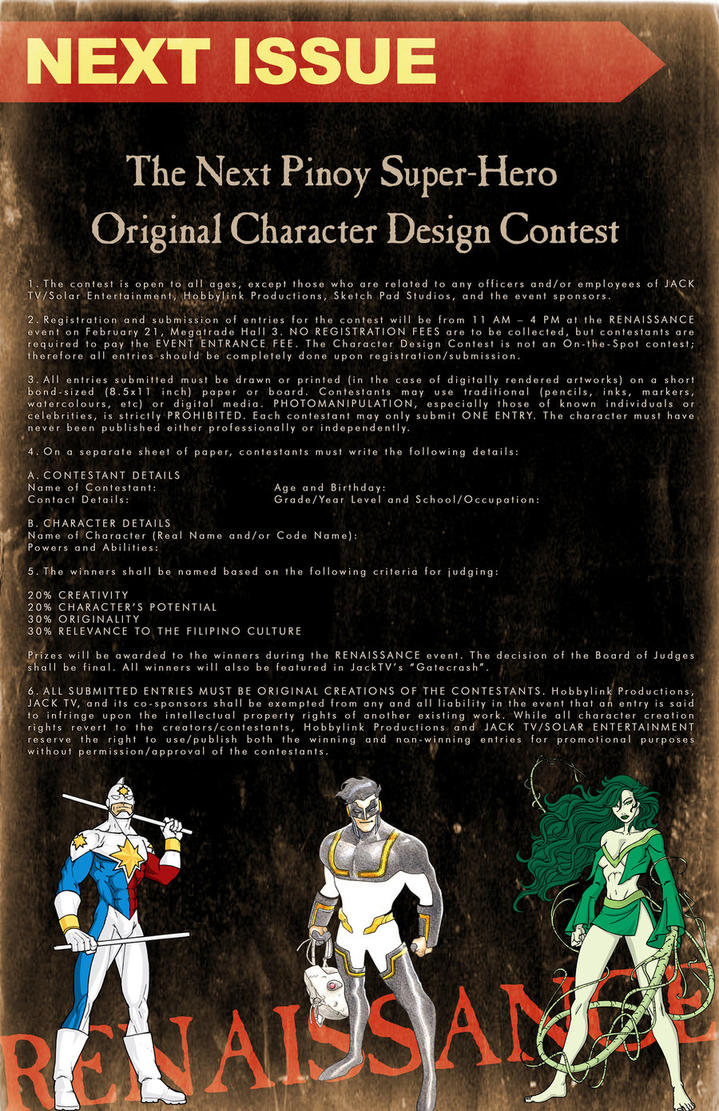 JOIN Character Design Contest by wrathofkhan