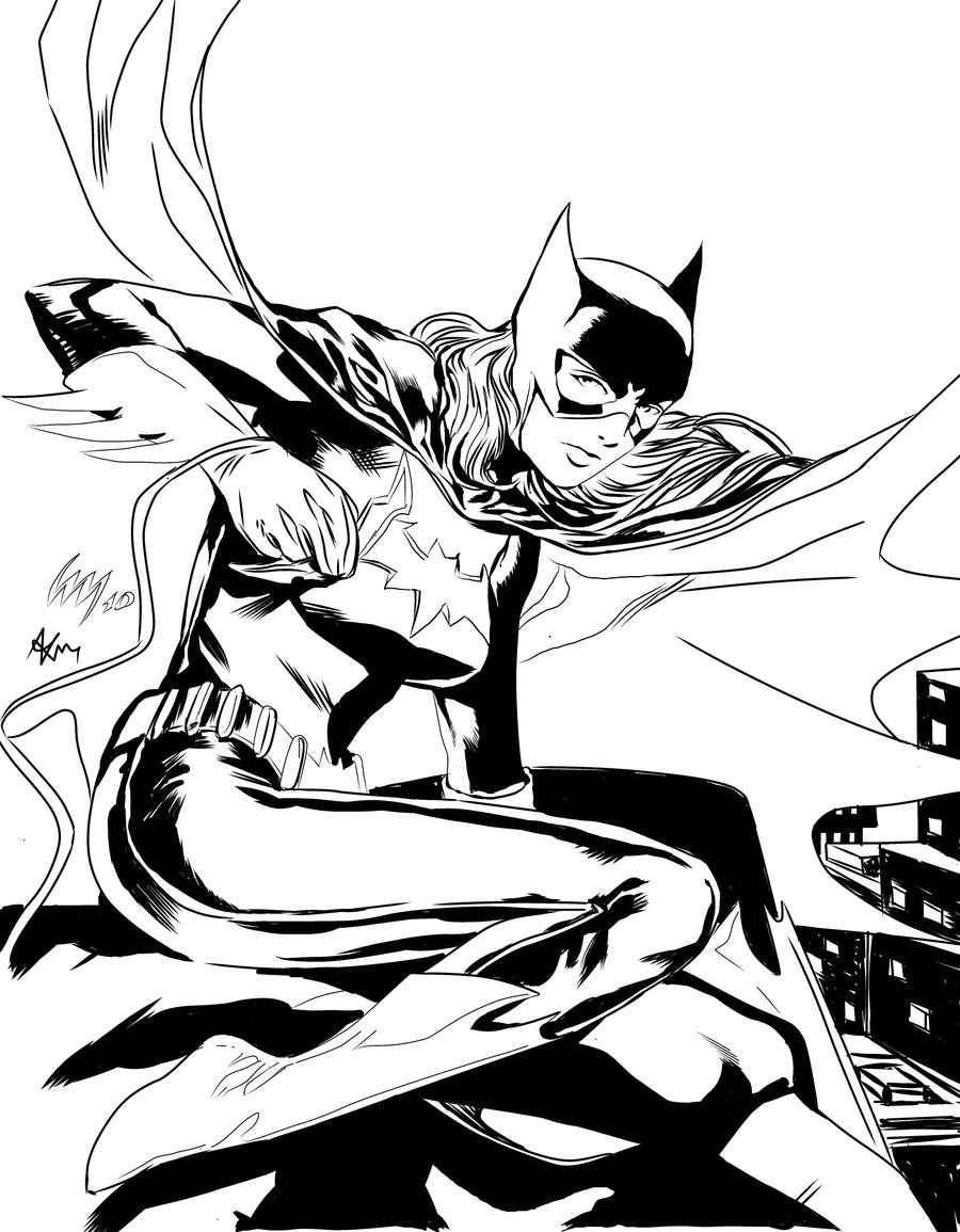 Batgirl videsh inks by wrathofkhan