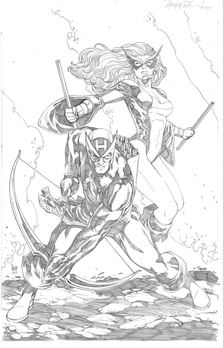 Hawkeye And Mockingbird By Wrathofkhan
