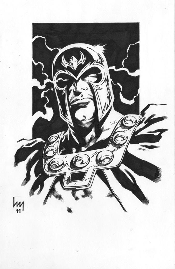 Headshots: Magneto by wrathofkhan