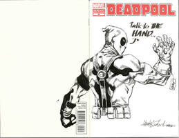 Deadpool's new weapon by wrathofkhan