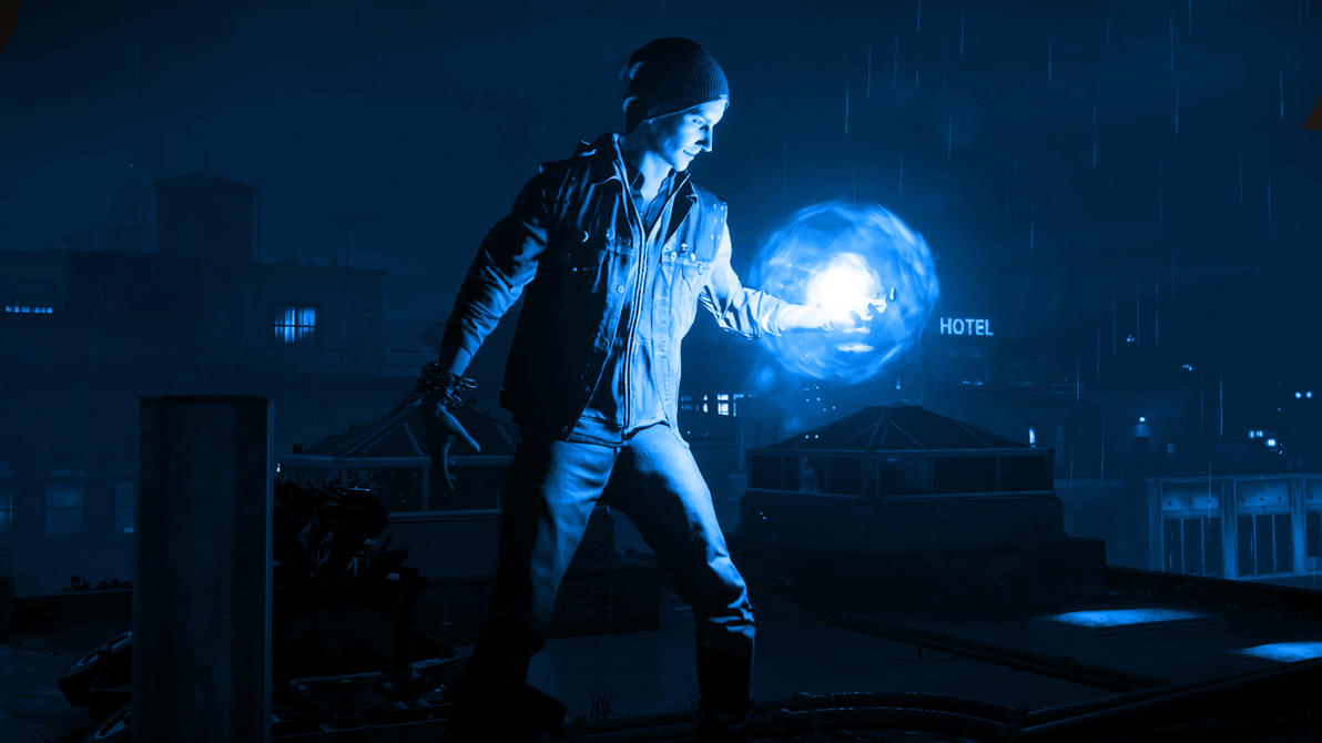 Infamous Second Son Blue Neon Wallpaper 4 By XtremisMaster