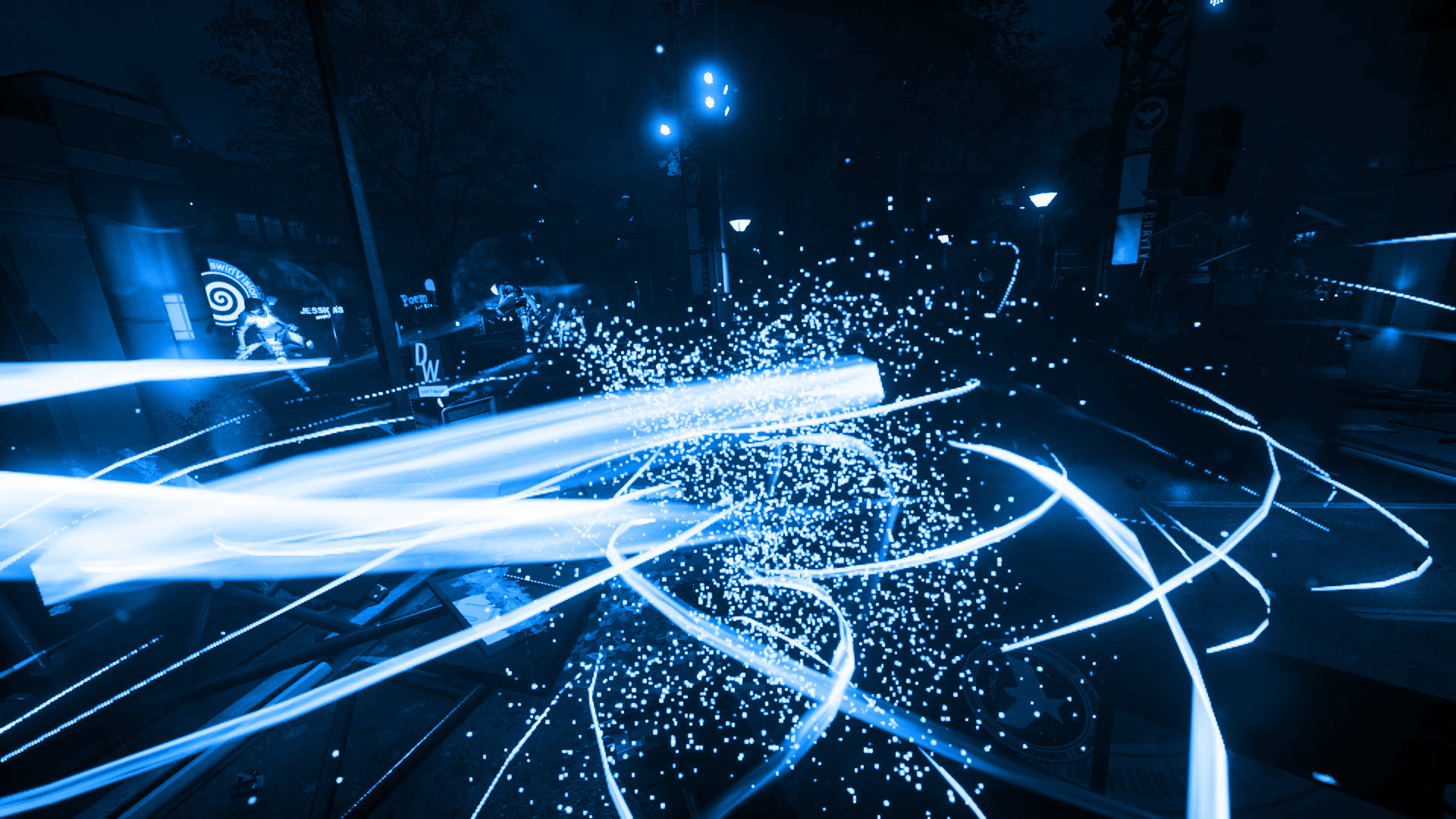 Infamous Second Son Blue Neon Wallpaper 7 By XtremisMaster