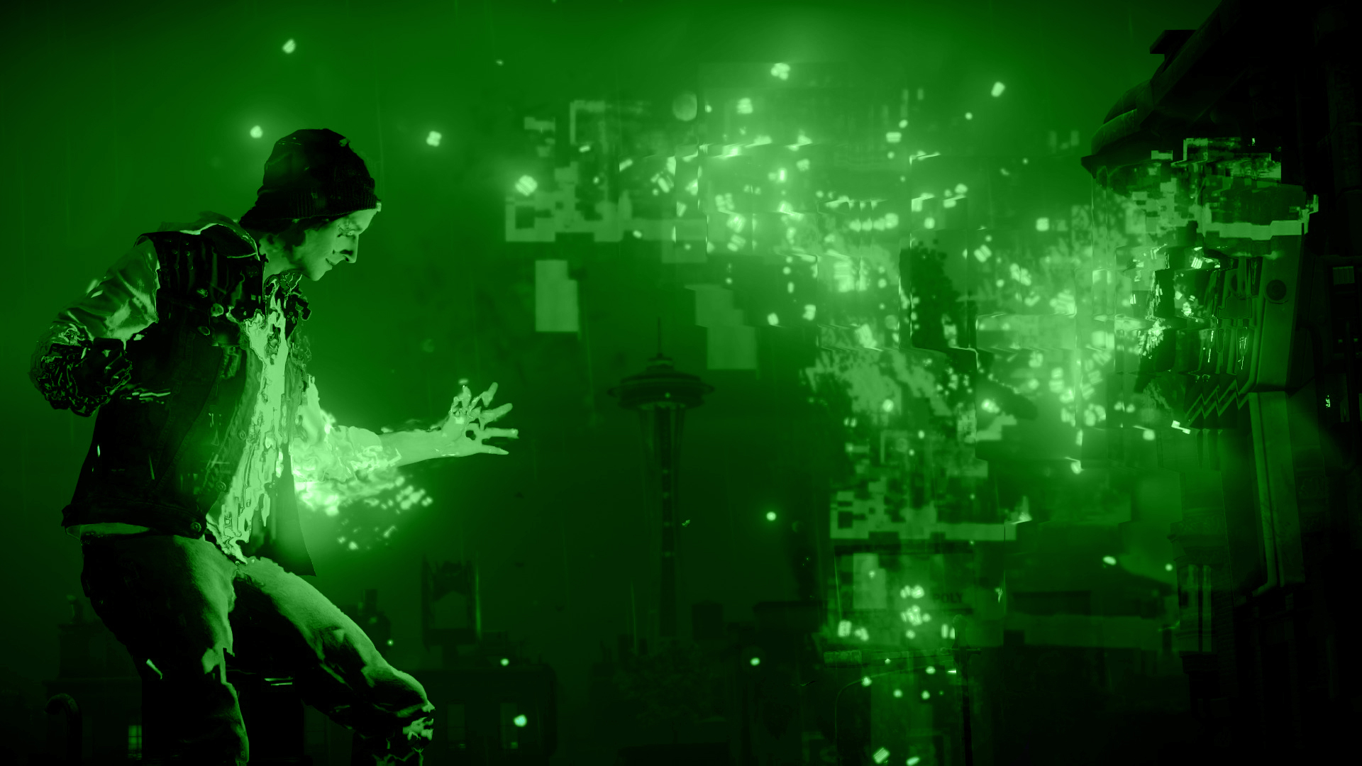 ... Infamous Second Son Green Video Wallpaper 5 by XtremisMaster