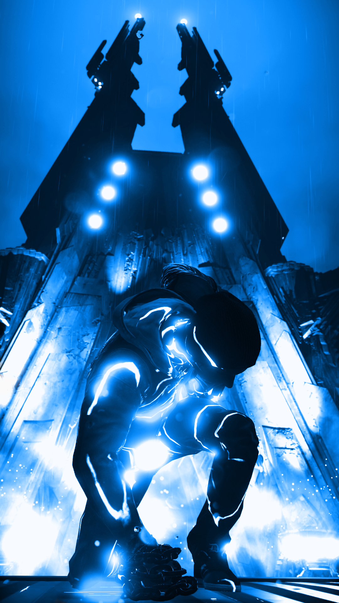 Infamous Second Son Blue Neon Phone Wallpaper By XtremisMaster