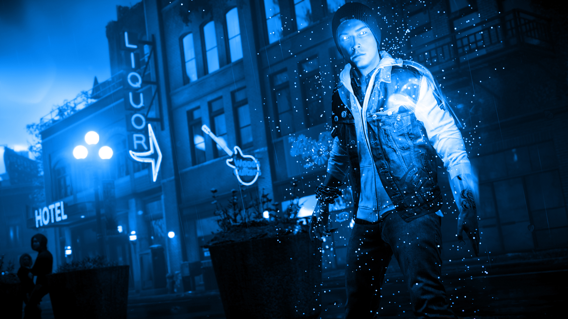 Infamous Second Son Blue Neon Wallpaper 21 By Xtremismaster On