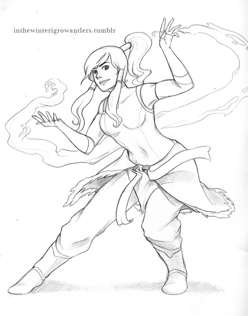 Korra Sketch by Kiniki-Chan