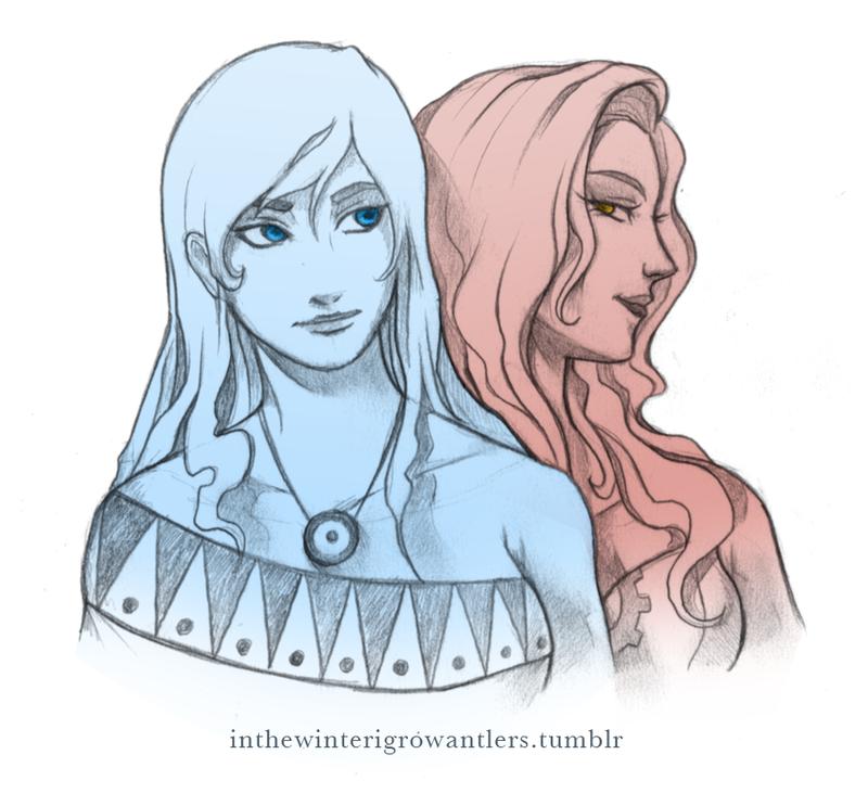 Korra and Asami by Kiniki-Chan