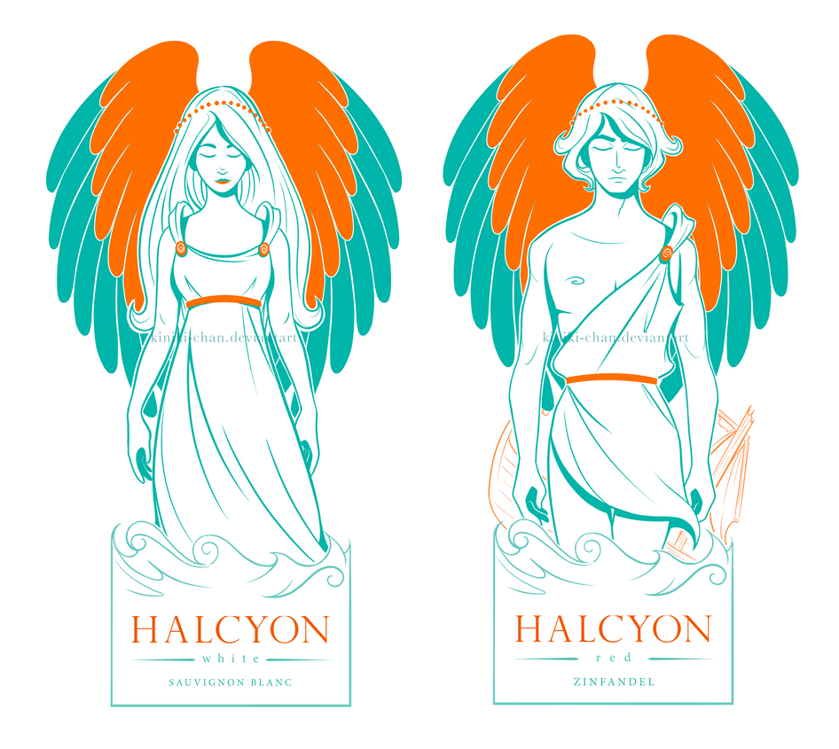 Halcyon Illustrations by Kiniki-Chan