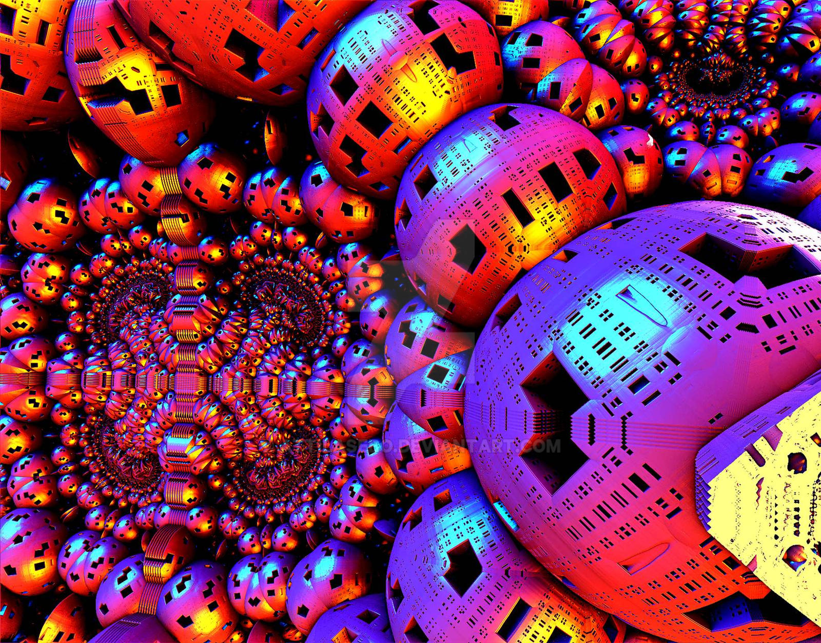 Neon Balls by attilasebo