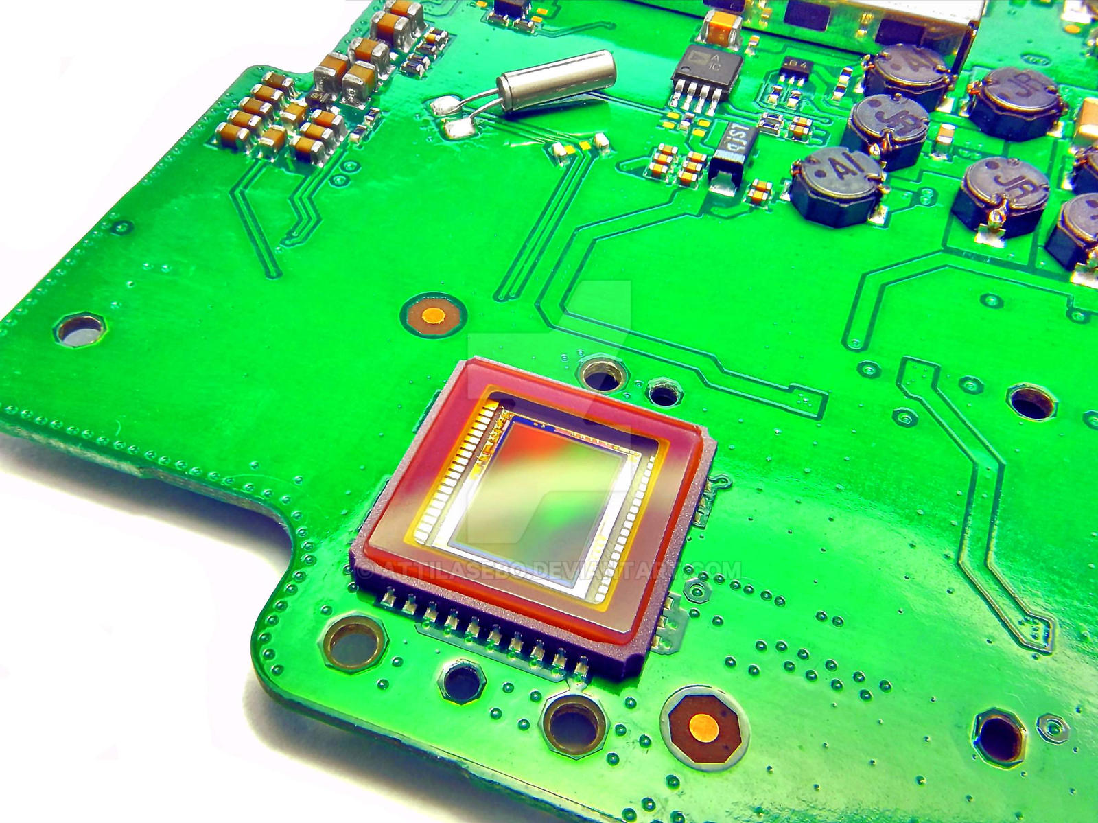 compact camera CCD and main board by attilasebo