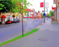 Artistic version of my photo `street and junction`