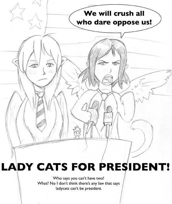 Ladycats for President by icekatze