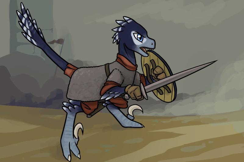 Raptor Viking Warrior by icekatze