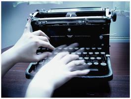 ghost's typewriter II by cela-me-va-bien