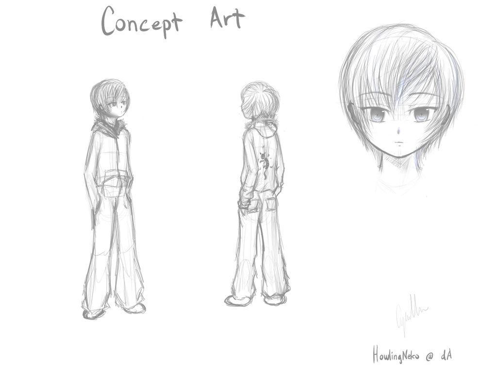 Cyrus Concept Art by HowlingNeko