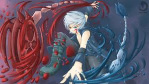 Demonic and Angelic Yoyos of Blades by HowlingNeko