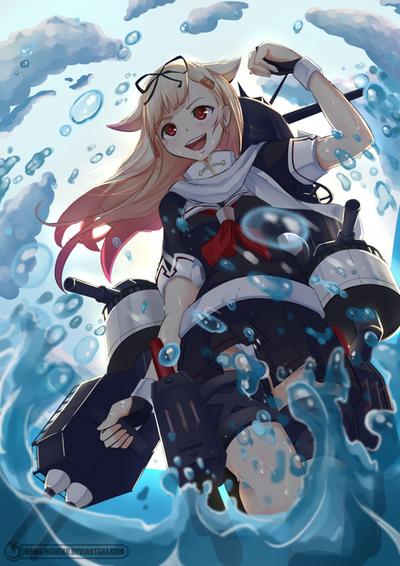 Fan art 7 - Yuudachi by HowlingNeko