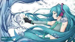 Fan art 11 - Hatsune Miku wallpaper by HowlingNeko