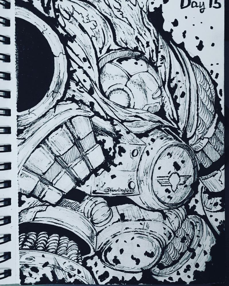 Inktober 2016 - Day 15 by HowlingNeko
