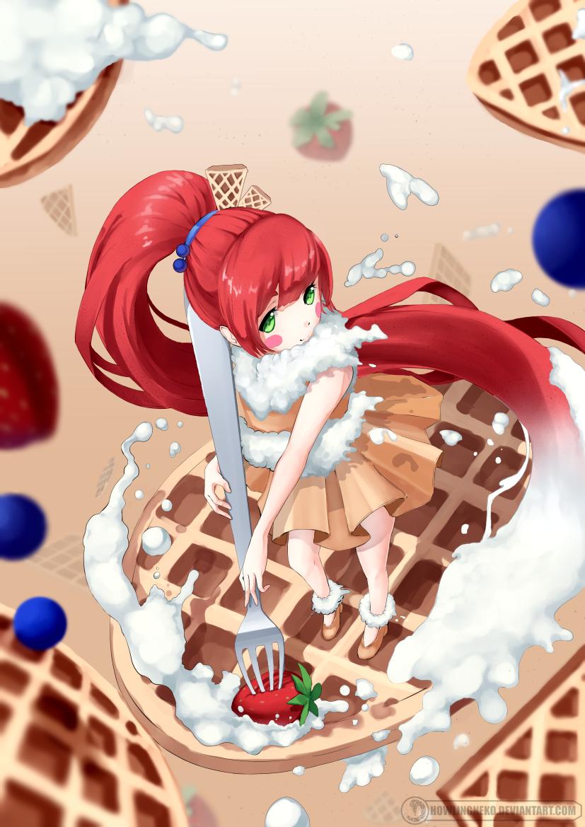 Waffle girl by HowlingNeko