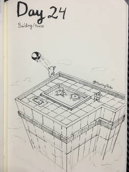 Inktober Day 24 - Building / house