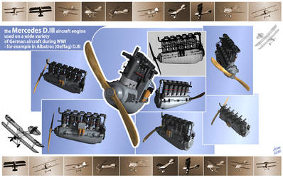 Mercedes D.III engine by nebaba