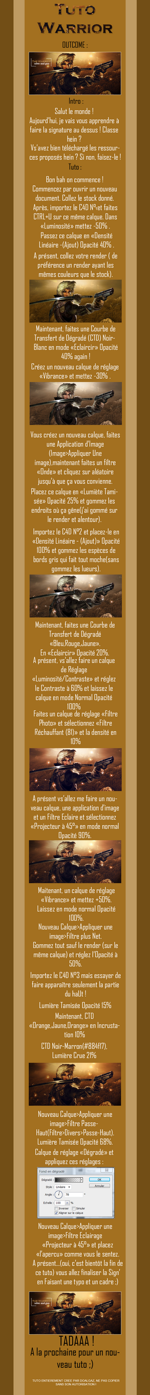 Tutorial Warrior French Francais by Doalgaz