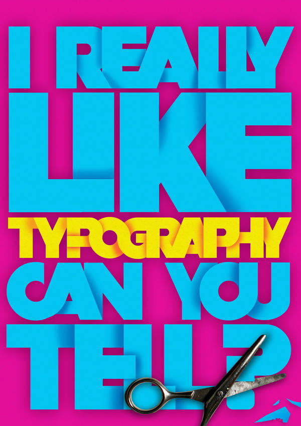 I like typography by koltzow