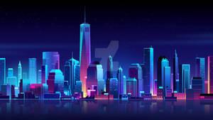 cyber city wallpaper