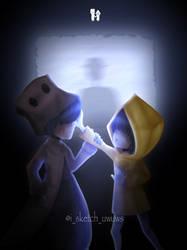 Little Nightmares 2 Fanart   Mono and Six