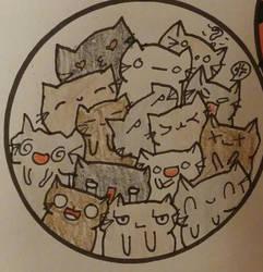 Kitten Bowl / Doodle by coriek99