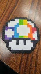 Rainbow Mushroom (Perler Beads) by coriek99