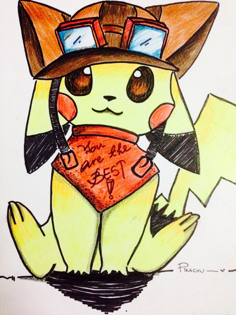 Pilot Pikachu by xXMysticStallionXx