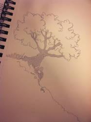 Tree on a hillside