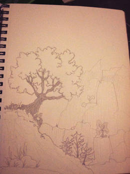 Tree on a hill (more details)