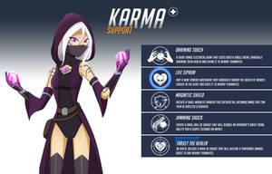 Overwatch OC - Karma by HuggableRogue