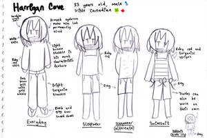 Harrigan Cove Character Concept Art Sheet by SurfingTheSeaWorld