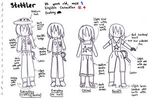 Stettler Character Concept Art Sheet by SurfingTheSeaWorld