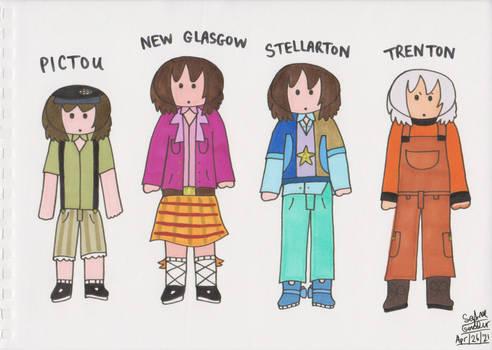 Chibi Pictou, New Glasgow, Stellarton + Trenton