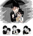 Tadashi and Hiro in the rain