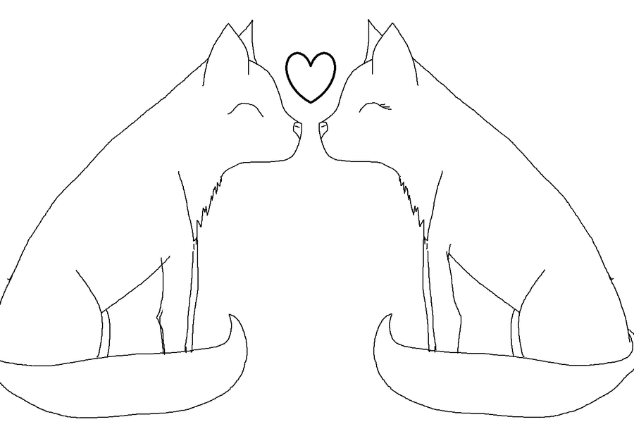 Line Art Love : Free cat love line art by gazettefangirl on deviantart