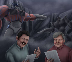 Peter Cullen and Frank Welker 2 by Comsing8